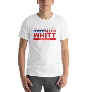Allen Whitt for U.S. Senate Short-Sleeve Unisex T-Shirt White - Allen Whitt West Virginia Republican Campaign for U.S. Senate