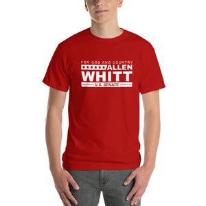 Allen Whitt for U.S. Senate Short Sleeve T-Shirt Red - Allen Whitt West Virginia Republican Campaign for U.S. Senate