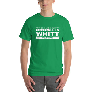 Allen Whitt for U.S. Senate Short Sleeve T-Shirt Irish Green - Allen Whitt West Virginia Republican Campaign for U.S. Senate