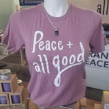 Peace & All Good T-Shirt - Triblend Orchid