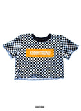 BT- Checkered Crop top [small] R3