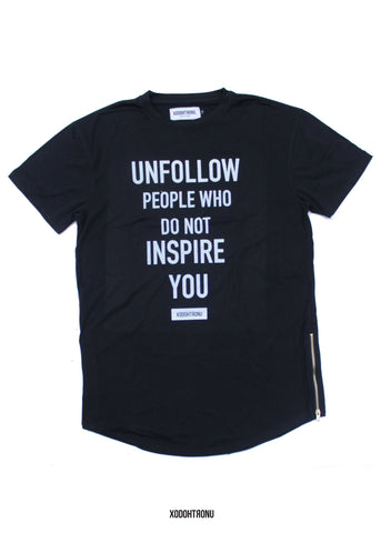 BT- Unfollow Noir Extended Tee (imperfect) [X-Large] R5