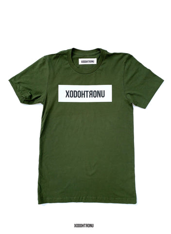 BT- Olive Front Stamped Tee [Medium] R12