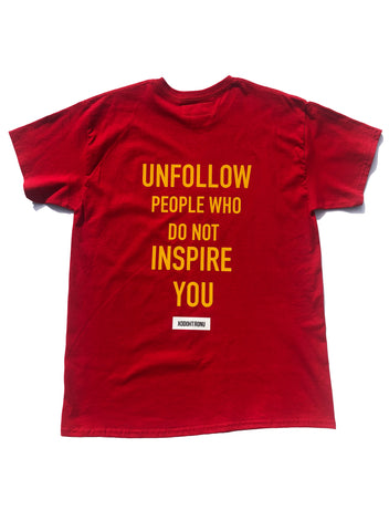 BT- Unfollow Extendo Tee Red [L & XL] R10