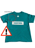 BT- Zaddy Tee Teal James Crop - [Medium] R14