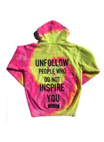 BT- Unfollow Hoodie Florescent - [Small] R14