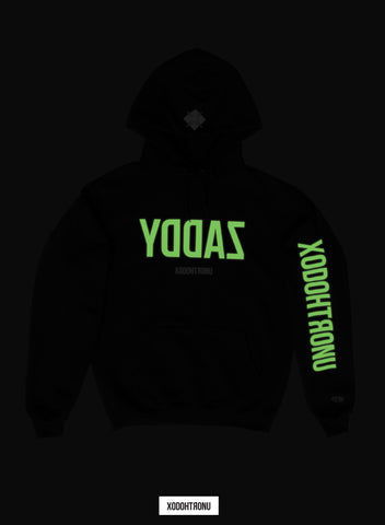 Comeback Szn YDDAZ Hoodie ft. Champion- Noir (Glow In The Dark logos!) [VAULT]