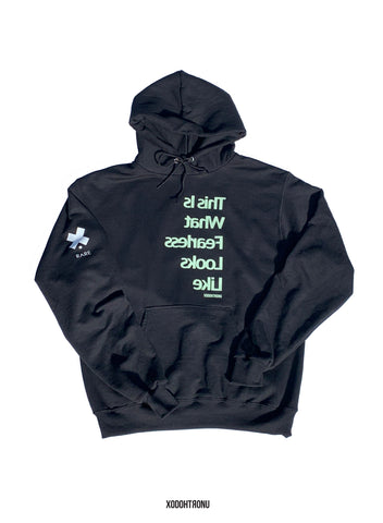 Fearless Hoodie Black GITD logos! 24 HOUR SALE!