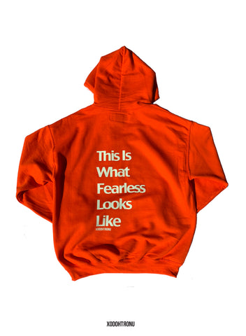 Fearless Hoodie Orange GITD logos! 24 HOUR SALE!