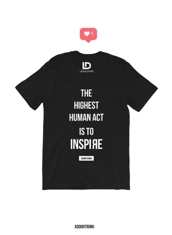 XODOHTRONU The Highest Human Act Tee- Noir  [LEGAL DOPE]