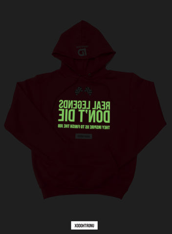 The Legends Hoodie ft. Champion- Red (Glow In The Dark logos!) [VAULT]