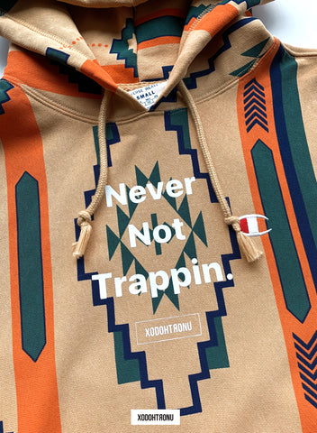 BT- Never Not Trappin x Champion SW hoodie 1 OF 1 [small] (RAND) VAULT