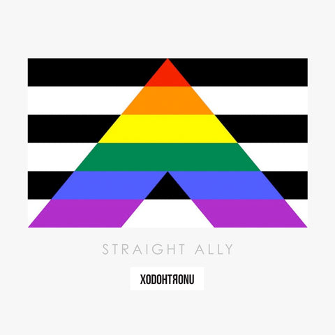Pride Flag Tee- Straight Ally (Essentials)