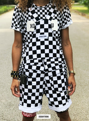 Reverse Checkmate Short Dungarees [RUNS BIG!!!!] [VAULT]