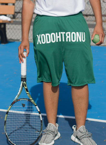 XODOHTRONU Front Stamped Shorts -- Green
