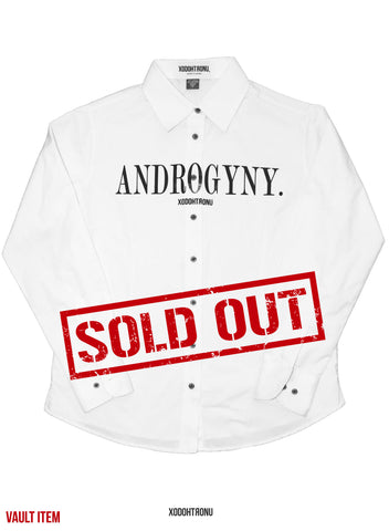 Androgyny Button Down White [VAULT]