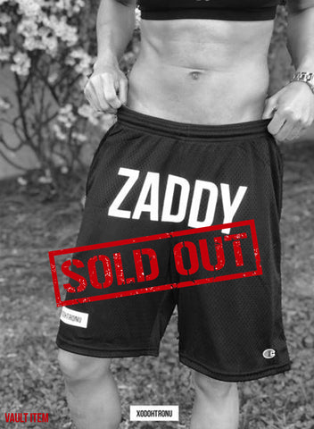 ZADDY Front Stamped Shorts Noir [VAULT]