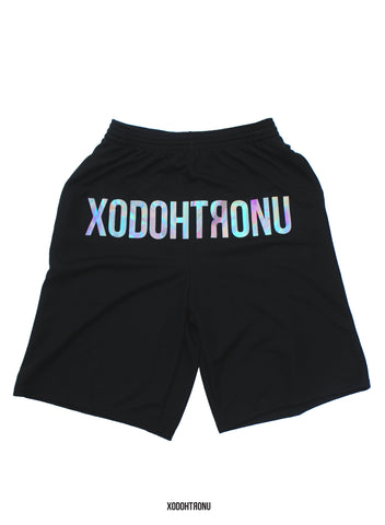 Unicorn Front Stamped Shorts Noir (24 HOURS ONLY!) [VAULT]