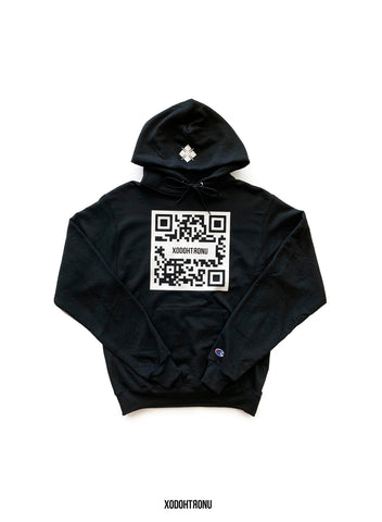 QR Glow in the dark Hoodie Ft. Champion