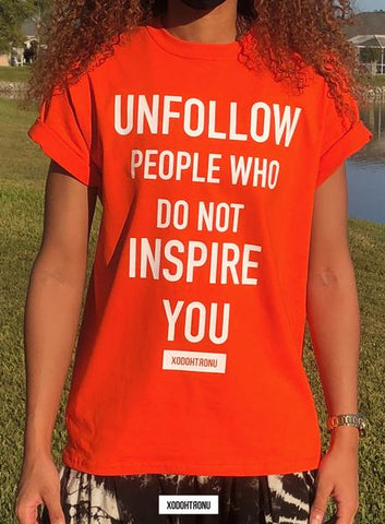 New* Unfollow Tee Naranja