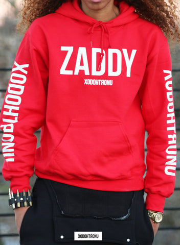 Mashup Logo Hoodie Red (Glow In the dark ZADDY logos) [RARE] [VAULT]
