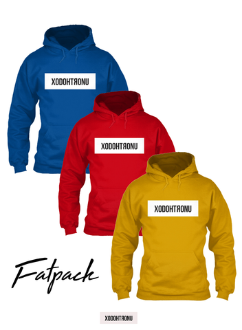RYB Primary Color Hoodies [Fatpack Only (ALL 3 COLOR HOODIES INCLUDED )]
