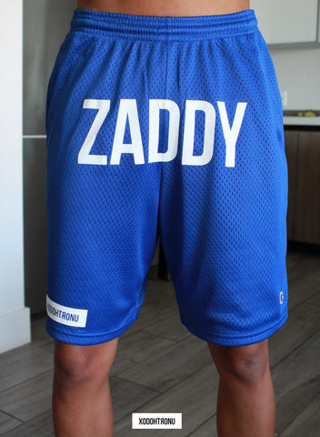ZADDY Front Stamped Shorts Royal [VAULT]