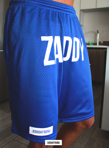 ZADDY Front Stamped Shorts Royal