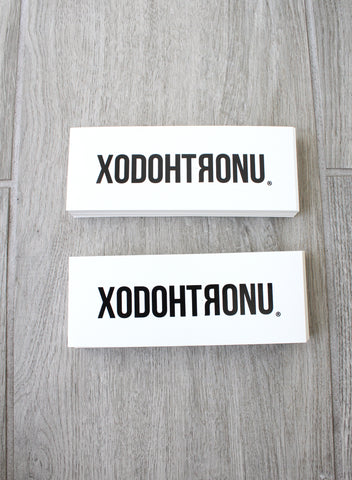 XODOHTRONU Word Logo Decorative Stickers