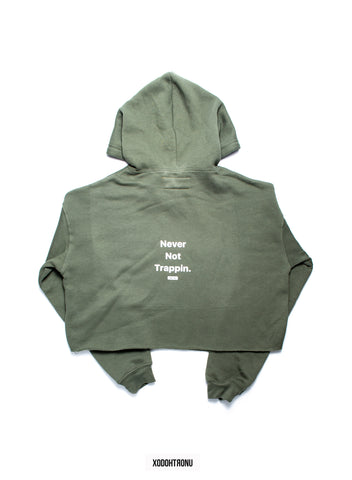 BT- Olive Crop Hoodie [Medium] R8