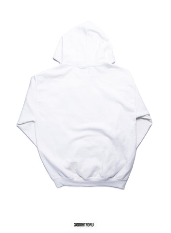 BT- White Front stamped hoodie [Medium] R8