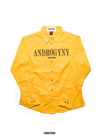 BT- Androgyny Button Down Yellow [Ladies Medium] R6