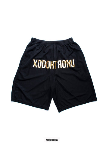 BT- Front Stamped Shorts Blk/Gold R8