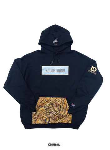 BT- Cheetah silver & Gold Legal Dope Hoodie [XL] R13