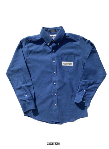 BT- Blue Button Down [xs/small] R13