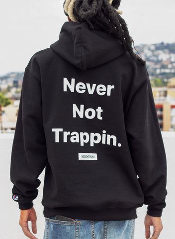 Never Not Trappin Hoodie Noir x Champion [VAULT]