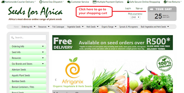How To Order Seeds For Africa