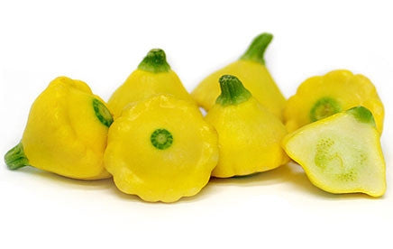 Yellow Scalloped Squash Patty Pan Squash - Cucurbita Pepo - Heirloom Vegetable - 5 Seeds