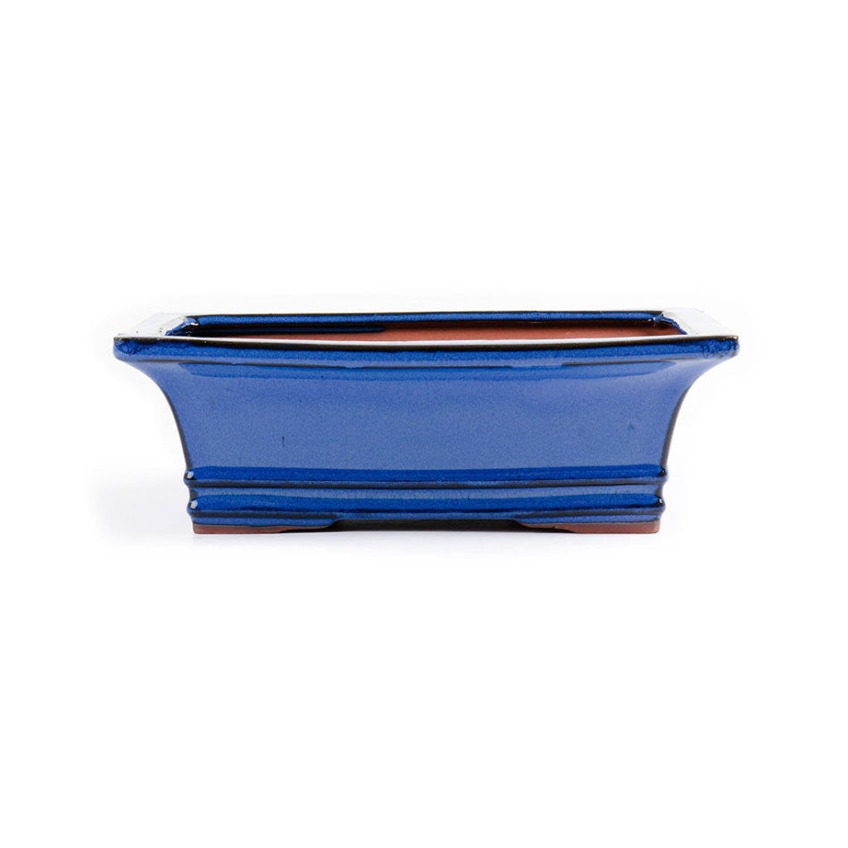 25cm x 20cm x 8cm - Glazed Bonsai Container - Blue