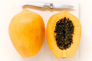 Large Yellow Round Pawpaw - Carica Papaya - Tropical Fruit - 5 Seeds