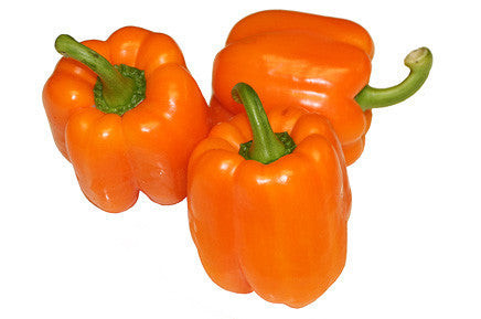 Orange Sun Sweet Bell Pepper - Heirloom Vegetable - 10 Seeds