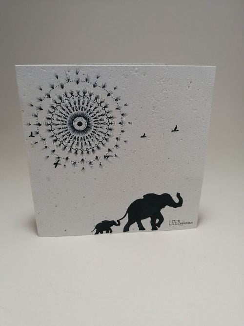 Growing Paper - Greeting Card - Elephant