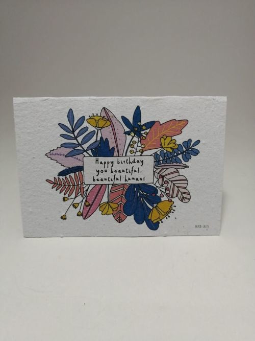 Growing Paper - Greeting Card - Happy Birthday