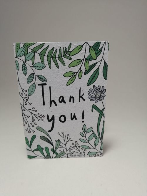 Growing Paper - Greeting Card - Thank You