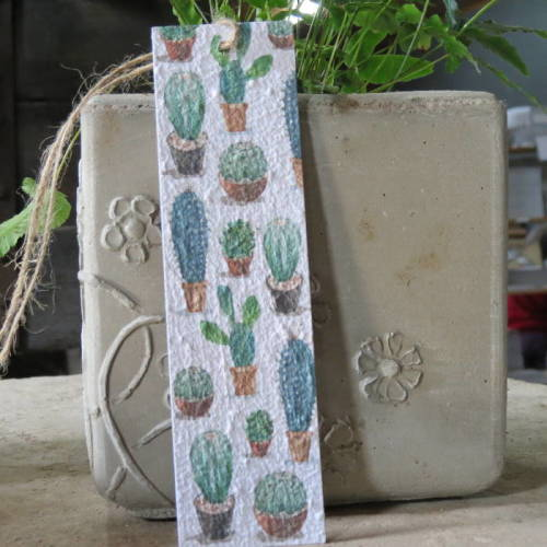 Growing Paper - Bookmark - Cactus