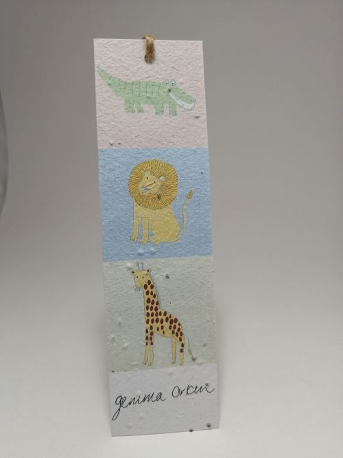 Growing Paper - Bookmark - Animals