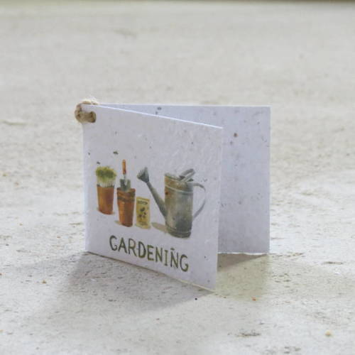 Growing Paper - Gift Tag - Single - Gardening