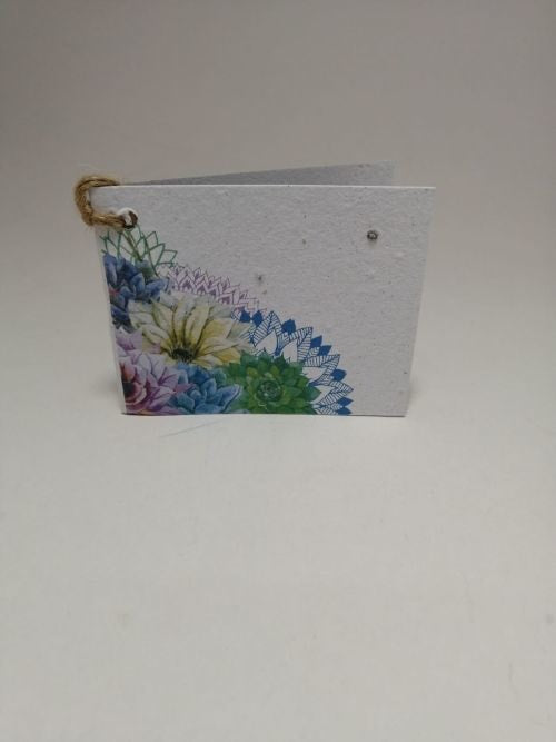 Growing Paper - Gift Tag - Single - Flowers