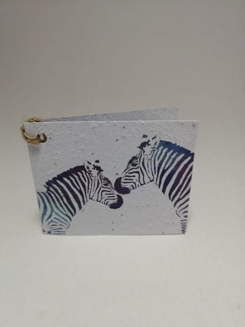 Growing Paper - Gift Tag - Single - Zebra