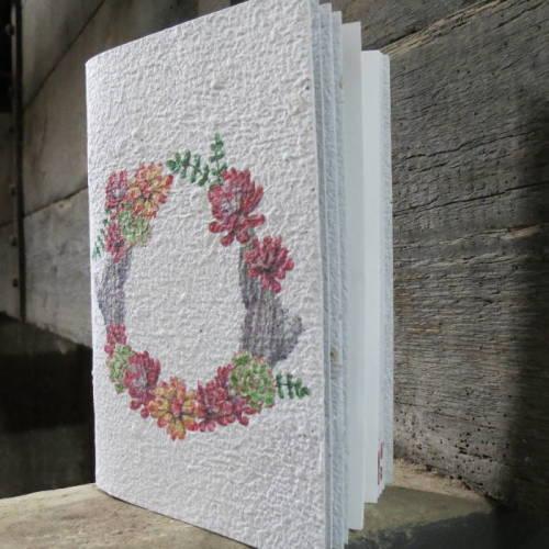Growing Paper - Note Book - Wreath